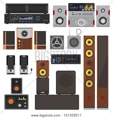 Music systems vector set.