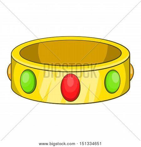 Ancient bracelet icon. Cartoon illustration of ancient bracelet vector icon for web