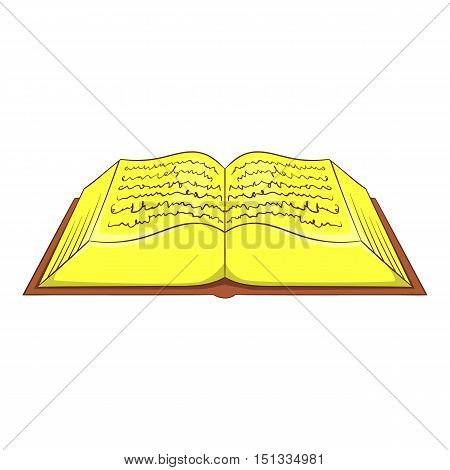 Ancient book icon. Cartoon illustration of ancient book vector icon for web