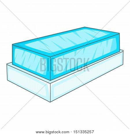 Glass showcase icon. Cartoon illustration of glass showcase vector icon for web