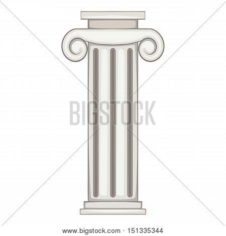 Column icon. Cartoon illustration of column vector icon for web