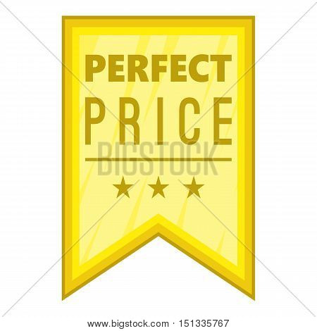 Perfect price pennant icon. Cartoon illustration of perfect price pennant vector icon for web