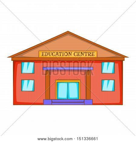 Education centre building icon. Cartoon illustration of education centre building vector icon for web