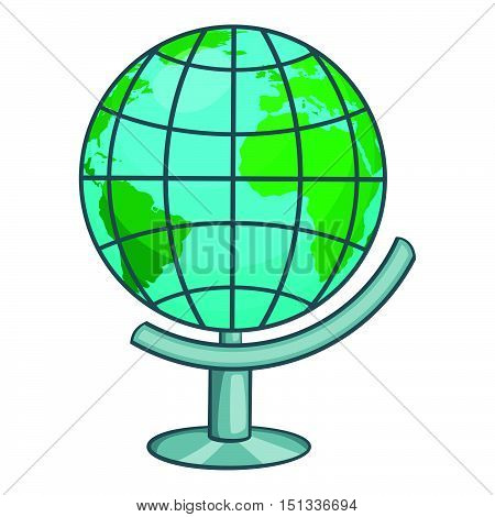 Terrestrial globe icon. Cartoon illustration of terrestrial globe vector icon for web