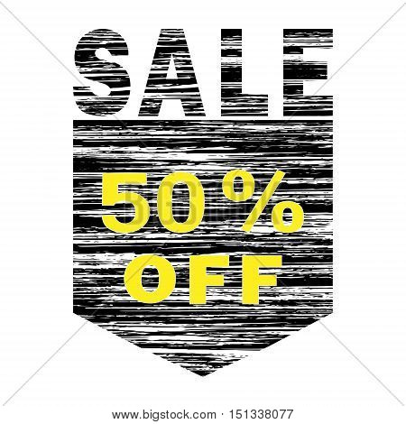 Black And Yellow Grunge icon SALE 50% Off