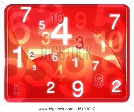 Red Twisting Numbers Texture