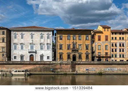 Palaces Lanfranchi-toscanelli And Roncioni In Pisa, Italy