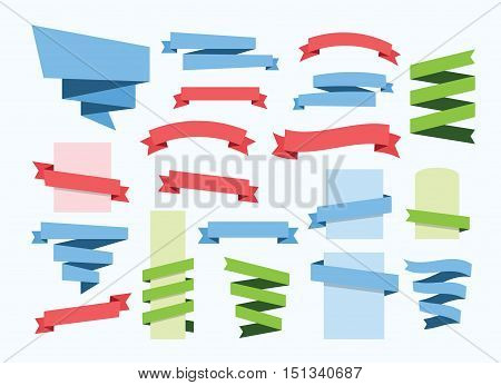 festive ribbon banner set vector clipart collection