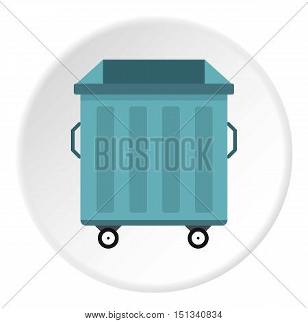 Dumpster icon. Flat illustration of dumpster vector icon for web design