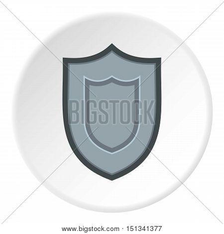 Combat shield icon. Flat illustration of shield vector icon for web design