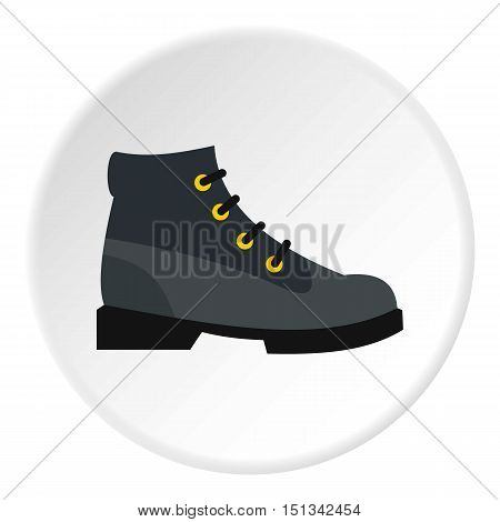 Hiking boot icon. Flat illustration of shoe vector icon for web design