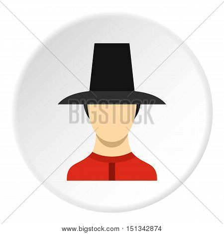 Traditional korean soldier uniform icon. Flat illustration of soldier vector icon for web design