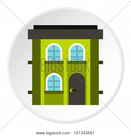 Two storey residential house icon. Flat illustration of two storey residential house vector icon for web