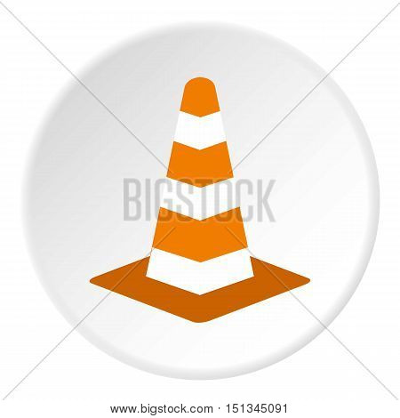 Traffic cone icon. Flat illustration of traffic cone vector icon for web