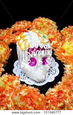 Sugar skull altar for