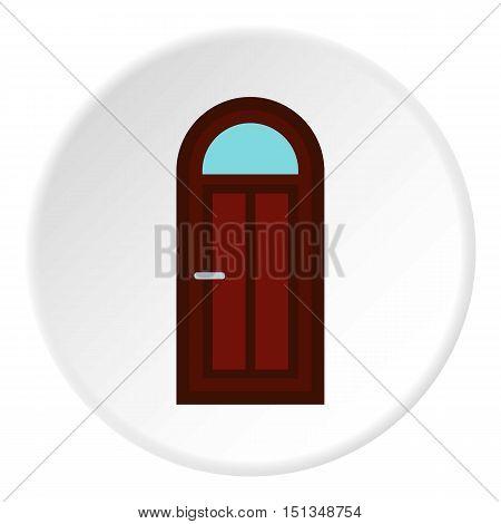Semicircular door icon. Flat illustration of semicircular door vector icon for web