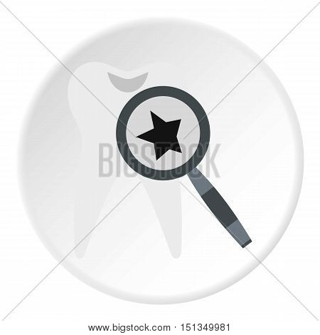 Inspection of tooth icon. Flat illustration of inspection of tooth vector icon for web
