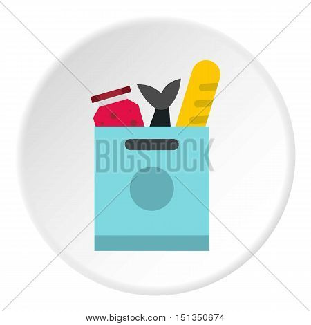 Pack with products icon. Flat illustration of pack with products vector icon for web