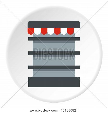 Showcase in shop icon. Flat illustration of showcase in shop vector icon for web
