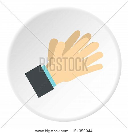 Open palm icon. Flat illustration of open palm vector icon for web