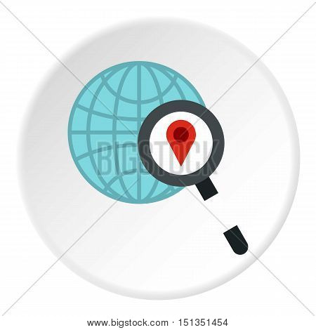 Search GPS icon. Flat illustration of search GPS vector icon for web