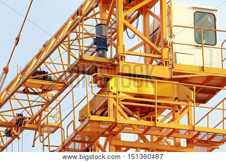 Slewing Mechanism of Tower Crane close up