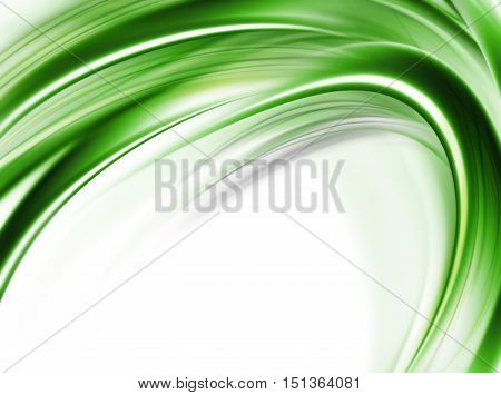 Abstract Modern Futuristic Green And White Background