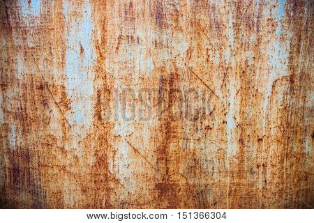 Rusty metal surface with rich and various texture