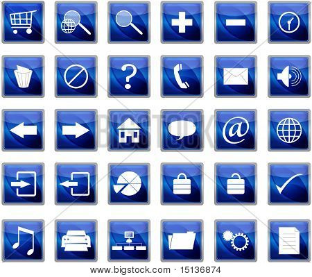 Blue Web Navigation Icons