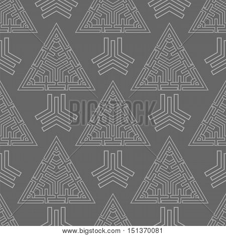 abstract triangles seamless pattern background vector illustration