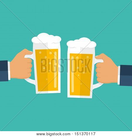 Two Men Holding Beer Mugs