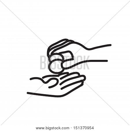 help beggars by giving a little money
