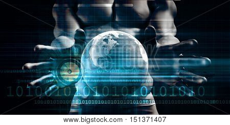 Global Network Business Concept as an Abstract Background 3D Illustration