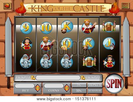 Game template wtih king and queen illustration