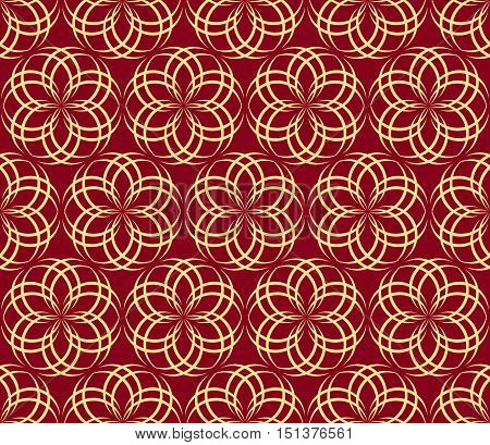 abstract flowers pattern 1 /Seamless vector pattern of abstract floral elements on burgundy background.