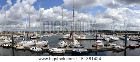 yacht harbor in Brest Brittany in France