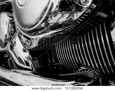 Motorcycle engine closeup as as a background