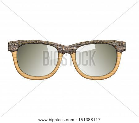 Eye glasses illustration. Environmental and safety expertise concept. Look and think green.