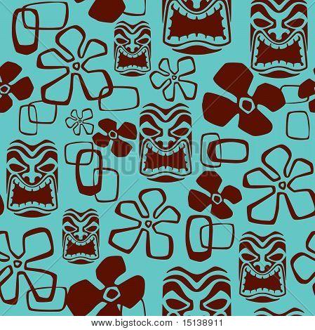 Exotic Tiki Mask Pattern