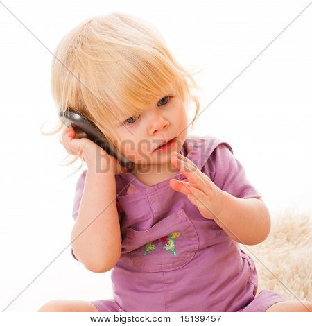 Girl calling on phone