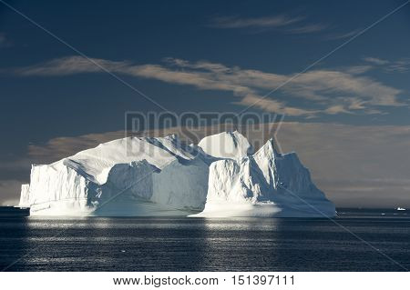 Iceberg in Greenland travel in the Arctic on icebreaker