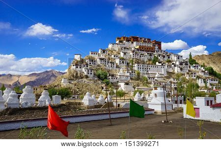 Thiksey Monastery or Thiksey Gompa Leh Ladakh Jammu and Kashmir India