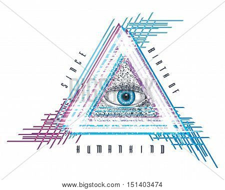 eye of providence mystical seeing astrology pyramid god