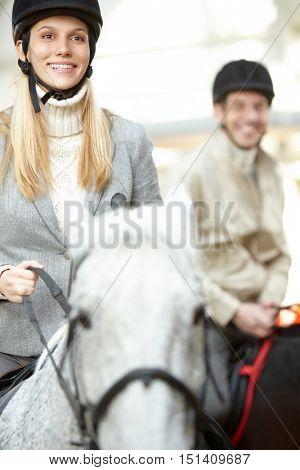 Brave horsewoman