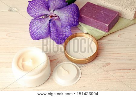Still Life With Cream Jar, Soap And Pumice