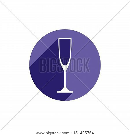 Lifestyle idea conceptual symbol classic champagne glass isolated on white. Alcohol design element can be used in advertising.