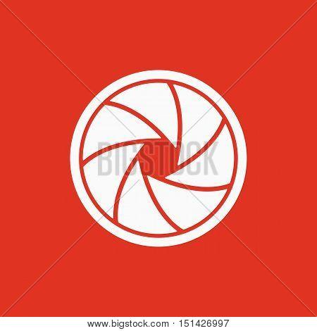 The diaphragm icon. Aperture symbol. Flat Vector illustration