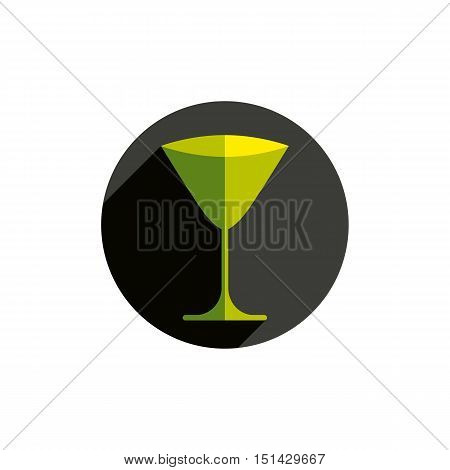 Sophisticated martini glass. Alcohol theme conceptual symbol party and leisure idea.