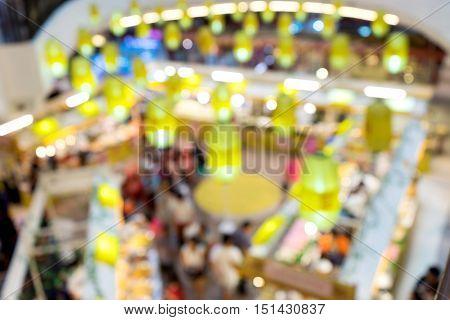 Blur Top View Of Maket