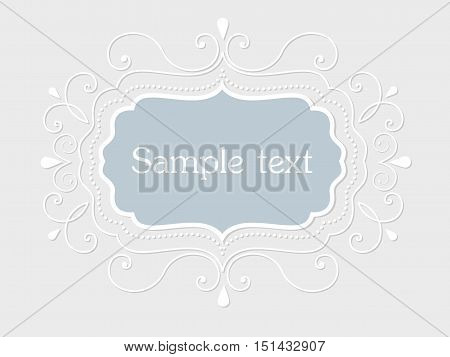 Vector invitation, cards or wedding card with elegant floral elements. Arabesque style design. Elegant floral abstract ornaments. Design element. Vector vintage frame